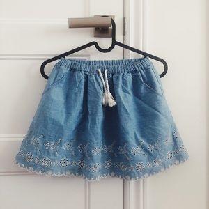 Girls Comfy Denim Skirt